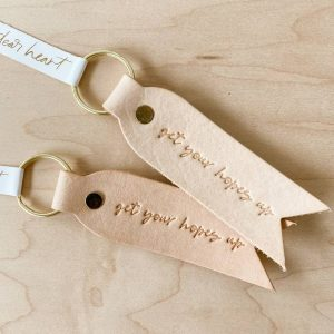 Get Your Hope Up Leather Key Chain Fob The Watermark Shop